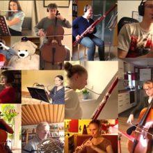 """Orchester Europahymne (1), """"drei Orchester – ein Auftritt"""""""